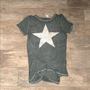 Green modern lux tee shirt